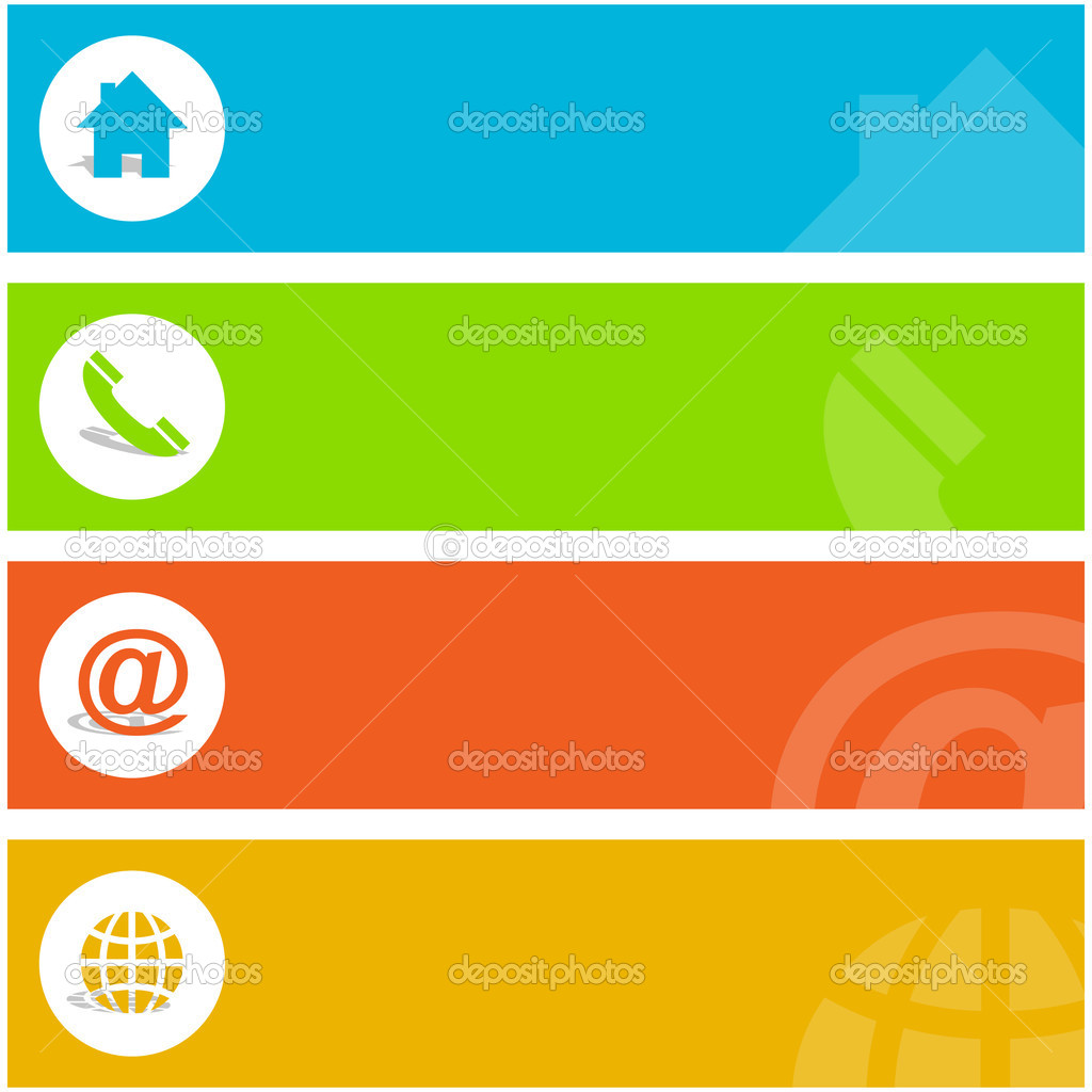 Contact elements for design. — Stock Vector #1440053