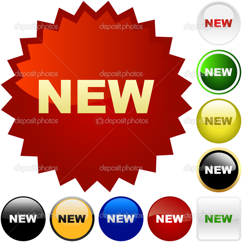 NEW buttons. Vector set.   Stock Vector #1440360
