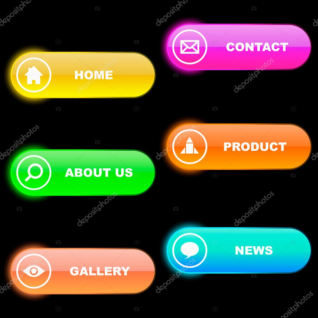 Buttons for web design. Vecor set.  — Stock Vector #1441039