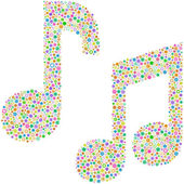 Seamless pattern with music notes. — Stock Vector