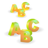 Vector ABC letters — Stock Vector