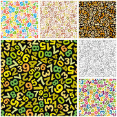 Seamless pattern with numbers — Stock Vector