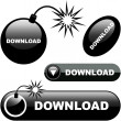 Download. Vector collection of web buttons. — Stock Vector
