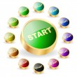 Start button. Vector set for web. - Stock Vector