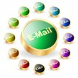 E-mail icon set for web. — Stock Vector