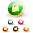 Padlock button set. Vector great collection. - Stock Vector