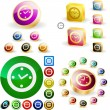 Clock buttons for web. — Stockvector #2563604