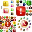 Attention buttons. - Stock Vector