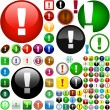 Vector attention buttons. - Stock Vector