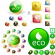 Eco button. — Vector de stock