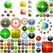 Compass buttons. — Stockvektor  #2563735