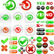 Yes and No icon. — Stock Vector #2563793