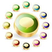 Vector discurso burbuja. botón set. — Vector de stock