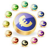 Euro icon for web. Vector illustration. — Stock Vector