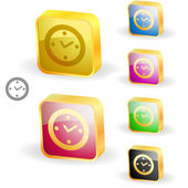 Vector clock icons. Vector set. — Stock Vector