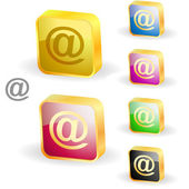 E-mail icon set for web. — Vector de stock