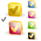 Approved vector buttons. — Stock Vector
