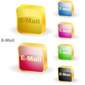 Icône de courrier électronique pour le web. — Vecteur
