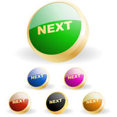 Next button. Vector set for web. — Stockvector
