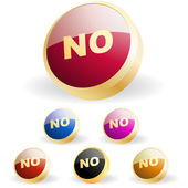 """NO"" button. Vector set. — Stock Vector"