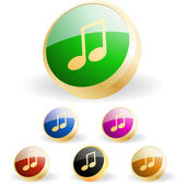 Vektor-musik-button-set — Stockvektor