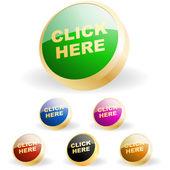 Vector buttons for web. Vector set. — Stock Vector
