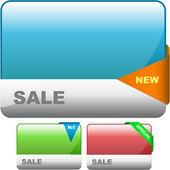 Insieme di elementi di design per la vendita. grande collezione. — Vettoriale Stock