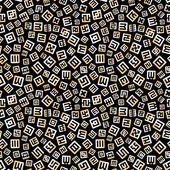 Naadloze achtergrond met abstracte symbolen. — Stockvector