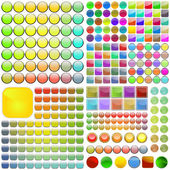 Vector collection of web buttons. — ストックベクタ