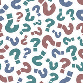 Seamless background with question signs — Stock Vector