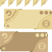 Set of sale banners. Vector set. — ストックベクタ