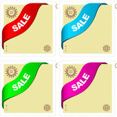 Set of sale banners. Vector set. — Vector de stock