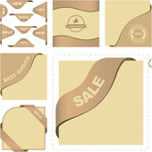 Set of sale banners. Vector set. — Vecteur