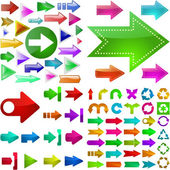Set of arrows. Vector great collection. — Stock Vector