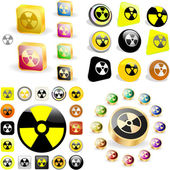 Radioactive icon. Vector set. — Stock Vector