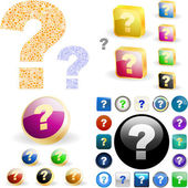 Question button set. — Stock Vector