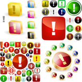 Attention buttons. — Stock Vector