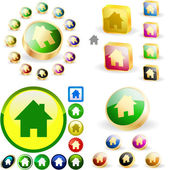 Home icons. — Stock Vector