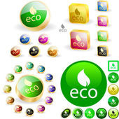 Eco button. — Vecteur