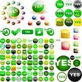 """""""YES"""" button. — Stock Vector"""