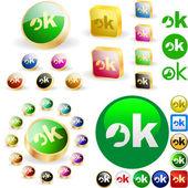 """""""OK"""" button. — Stock Vector"""