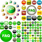 FAQ buttons for web. — Stock Vector