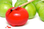 The painted apple 2 — Stock Photo