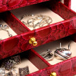 Casket with jewelry — Stock Photo