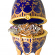 Stock Photo: Egg with jewelry