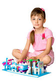 The girl with meccano 2 — Stock Photo