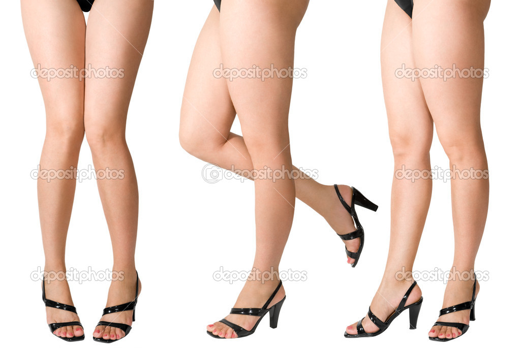 Female legs in black shoes  — Stock Photo #1489504