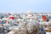 Village in a snow — Stock Photo
