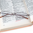 Stock Photo: Dictionary and spectacles