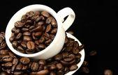 Kaffee-Zeit-Hintergrund — Stockfoto